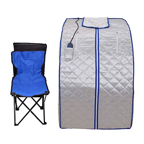 Ridgeyard 600W Portable FIR/Far Infrared SPA Sauna Room Weight Loss Detox Tent + Foot Heating pad