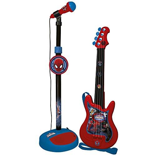 REIG Spiderman-Conjunto de Guitarra y micrófono (552) (72-552)