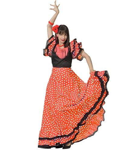 Fiesta y Carnaval, S.L.. DISFRAZ SEVILLANA ADULTO - Talla 44  L Mujer | XS Hombre