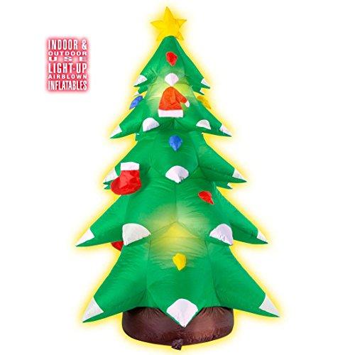NET TOYS Aufblasbarer Weihnachtsbaum Leucht Christbaum 183 cm Leuchtender Tannenbaum Weihnachtsdeko Baum Heilig Abend Raumdekoration Weihnachten Dekoration