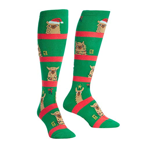 Sock It To Me Womens Fa La La Llamas Holiday Knee High Socks