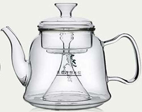 HUANGSAN Glas-Teekanne KochenSieTee-Geschirrglas Der dampfende Teekannen-Gasherd verwendet eine Glaskanne mit großer Kapazität, 02style1300ML