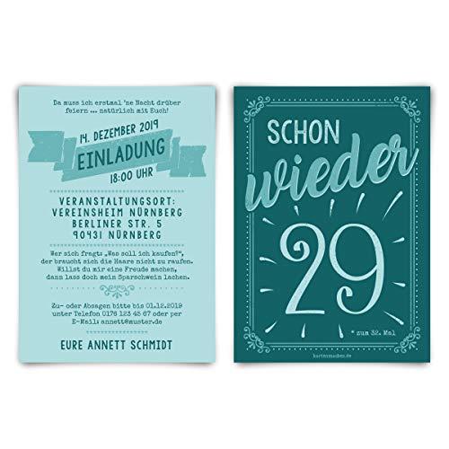 30 x Runder 60. Geburtstag individuelle Einladungskarten Einladungen - schon wieder 29