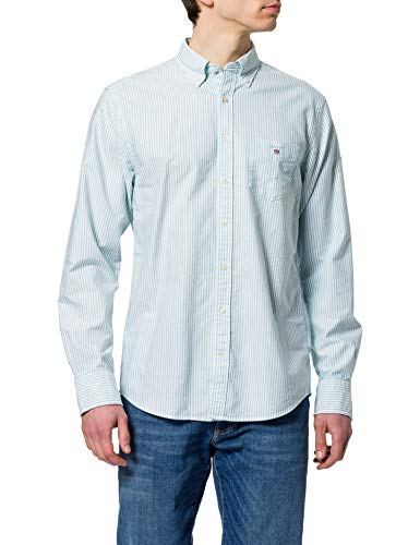 Photo of GANT Men's REG Oxford Banker BD Shirt, Green Lagoon, 4XL