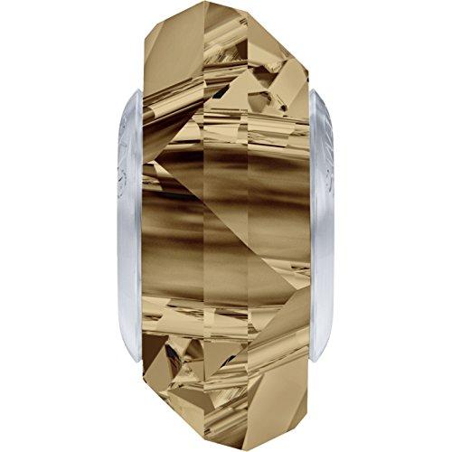 Cristaux de Swarovski 5063393 Perles Cristal 5929 MM 14,0 Crystal GOL.Shadow Steel, 12 Pièces