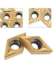 10 stks diamantvorm cnc carbide insert cutter voor normale rvs machine draaibank frezen inserts draaigereedschappen met case DCMT070204 US735 DCMT51.51 voor staal
