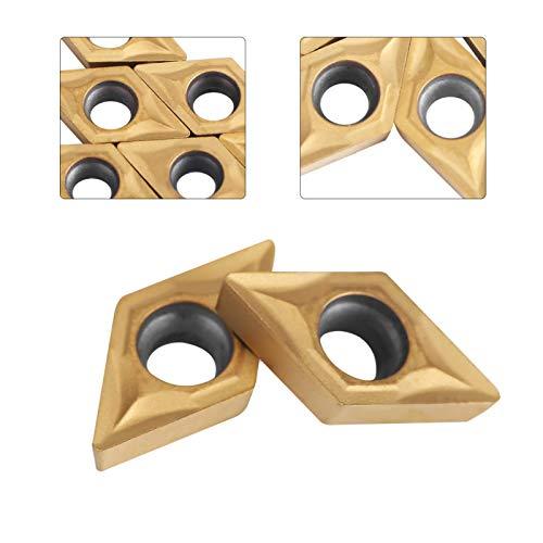 10pcs Diamantform CNC Hartmetall Einsatzschneider für regelmäßige Edelstahl Maschinen Drehmaschine Fräseinsätze Drehwerkzeuge mit Fall DCMT070204 US735 DCMT51.51 für Stahl