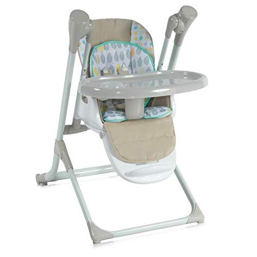 Chaise haute Lorelli, sautoir bébé Ventura 2 en 1 dès la naissance, musique, réglable, Farbe:beige