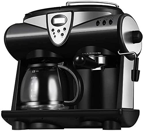 Espresso Cafetera, cafetera de filtro Máquinas de café espresso profesionales 1850W con bomba de 20 barras Función de calentamiento Acero inoxidable