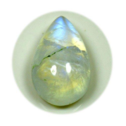 GemsOnClick Natur Rainbow Mondstein lose Edelstein 2,6Karat Pear Schneiden Cabochon Juni Geburtsstein AAA Qualität