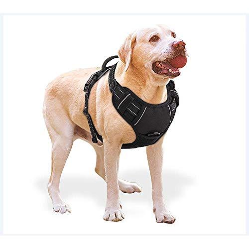 Bels Arnés de Perro Grande sin Labrador de tracción, arnés Ajustable sin Perros pequeños Reflectantes para el Entrenamiento de Perros Grandes o Caminar S