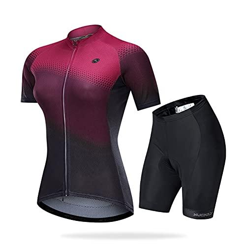Traje Ciclismo para Verano, Ciclismo Maillot y Culotte Ciclismo Culote Bicicleta con 3D Gel Pad, para Deportes al Aire Libre Ciclo Bicicleta