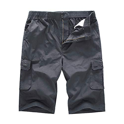 JERFER Pantalón Color Puro Casual Hombre Outdoors Bolsillo Playa Pantalon Trabajo Carga Pantalones Cortos Gran Precio Cortar