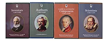 Educational Playing Card Games Bundle - 4 Items  1 of each   Inventors Card Game Composers Card Game Scientists Card Game & Authors Card Game