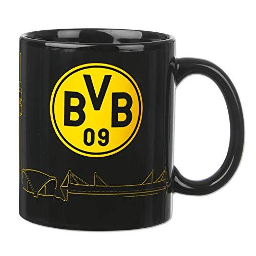 Borussia Dortmund, BVB-Zaubertasse mit Skyline, Schwarz / Gelb, 0