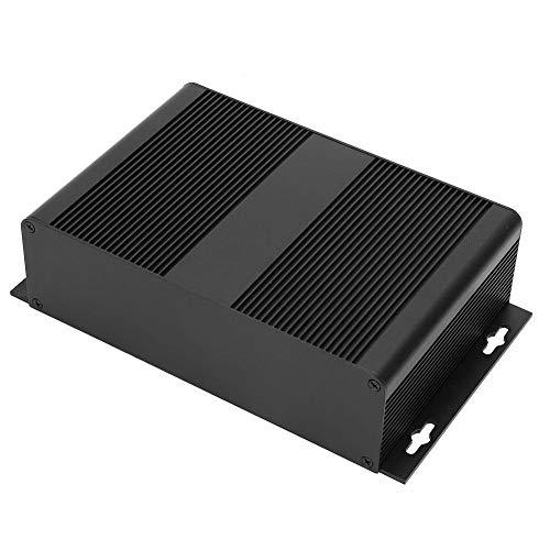 Caja de aluminio para bricolaje, caja de enfriamiento, negra para productos electrónicos Diseño de tipo dividido Durable Anti-trueno