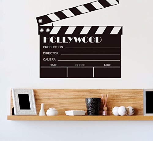 Zjxxm Movie Clapboard Props Action Filming Vinyl Wall Sticker Art Decal Removable Home Decor Mural B651 57 * 55Cm
