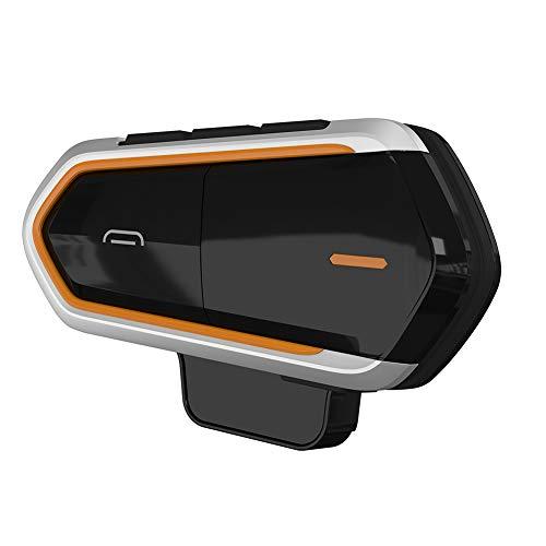 OUYAWEI Erelectronics - Auriculares intercomunicadores Bluetooth para casco de motocicleta, color naranja