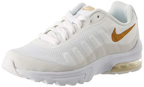 Nike Air Max Invigor (GS), Scarpe da Corsa Bambino, Bianco(White/Metallic Gold 100), 36 EU
