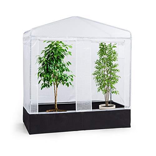 Waldbeck Plant Palace X2 Gewächshaus Folienzelt Grow Box, Maße: 200x220x100cm (BxHxT), verzinkter Stahlrohrrahmen Ø25mm, PVC-Gitterfolie: reißfest, lichtdurchlässig, UV-beständig & wasserdicht
