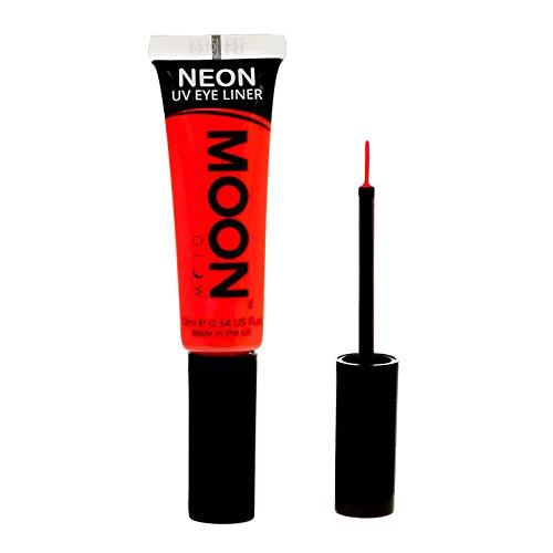 Moon Glow – Eye liner néon UV10mlRouge.qui produisent un effet fluo incroyable sous la lumière ultraviolette ou noire !