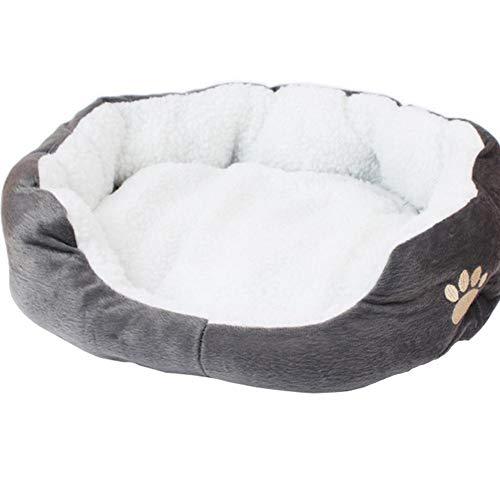 Lubier 1 Stück Katzenbett Hundebett Waschbar Warm Haustierbett Weich und Bequem Welpen Katzen Nest Plüsch Hundekissen Katzensofa