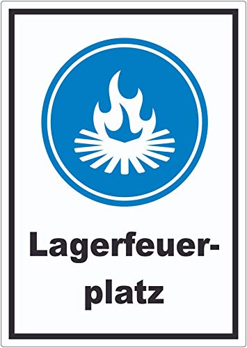 Lagerfeuerplatz Aufkleber A5 (148x210mm)