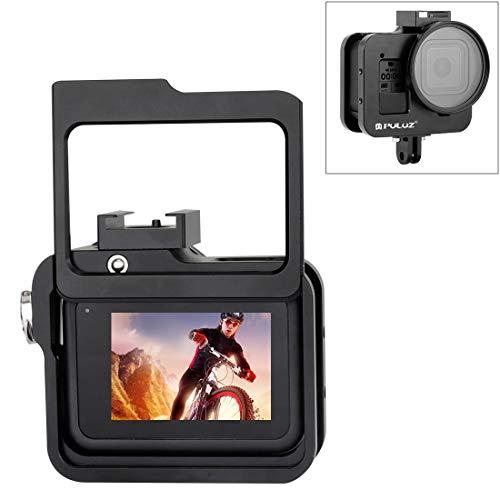 WWTTE Gehuseschale CNC-Aluminiumlegierung Schutzkäfig Mit Versicherung Rahmen Und 52mm UV-Objektiv for GoPro HERO8 Black (Schwarz) DZ (Color : Black)