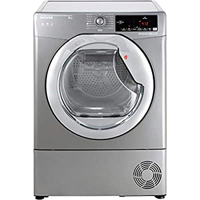 Hoover DX C9TCER Freestanding Condenser Tumble Dryer with Aquavision, NFC Connected, 9kg Load, Graphite