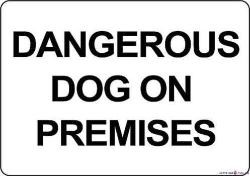 Street sign Indication warning sign Dangerous Dog On Premises Wall Art Outdoor Indoor 12x8 Inches New Aluminum Metal tin sign