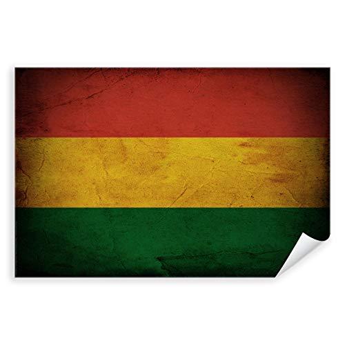 Postereck - 0357 - Vintage Flagge, Fahne Bolivien Sucre - Unterricht Klassenzimmer Schule Wandposter Fotoposter Bilder Wandbild Wandbilder - Leinwand - 100,0 cm x 75,0 cm