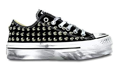 Converse All Star Platform zwarte studs zilver [alle grootte]