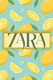 Zara Name gift: Lemon Notebook personalized gifts for Zara
