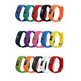 15 Pack - Smilego Bands Compatible with Garmin Vivofit 3, Soft Adjustable Breathable Waterproof Watch Band Wristband Strap with Watch Buckle for Kids Women Men (Only fit for Vivofit 3)