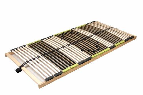 DaMi Lattenrost Relax 140 x 200 cm – 7 Zonen Lattenrahmen aus Buche mit 6-Fach Härteverstellung – Starr