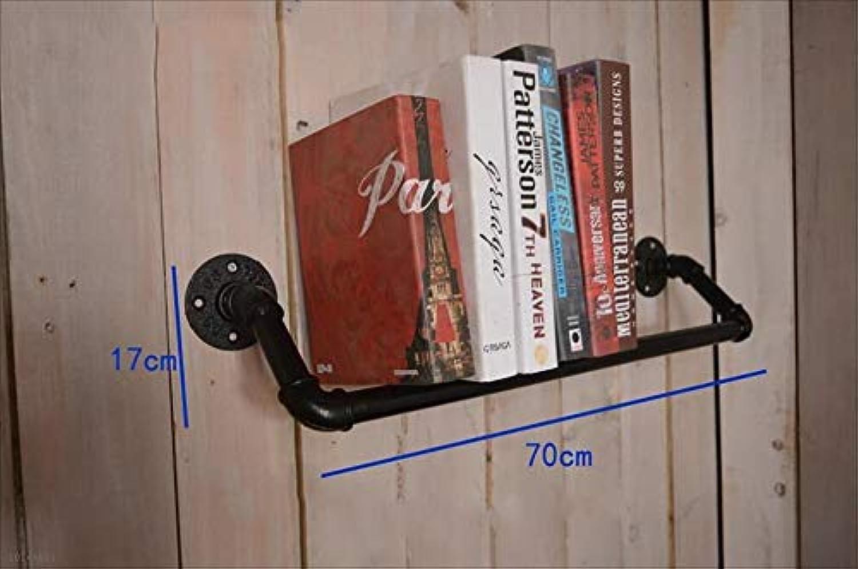 Bookshelf Industrial Style Water Pipe Wall Shelves Multi - Storey Solid Wood Board