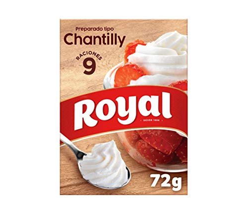 Royal - Crema Chantilly, Preparado en Polvo - 9 Raciones, 72 g
