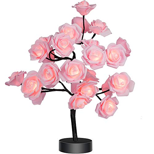 Table Lamp Rose Flower Desk Tree Lamp...