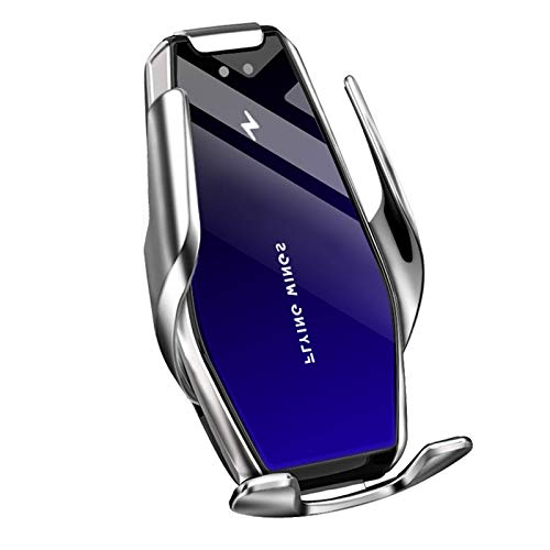 El soporte para teléfonos móviles de carga inalámbrico de carro inductiva de 15W es adecuado para todos los soportes de rasguño rápido de teléfonos móviles que admiten la carga inalámbrica