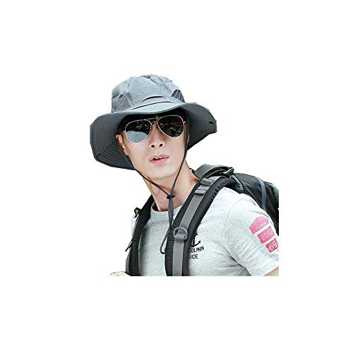 youler Sombreros de Pesca, Sombrero de Malla de ala Ancha Plegable de Verano Resistente a los Rayos UV, Pesca al Aire Libre, Camping, Senderismo, Sombrero de Viaje