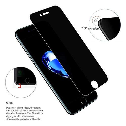 PmseK Protector de Pantalla,Vidrio Templado,Anti Spy Privacy Tempered Glass Screen Film For iPhone X XS XR XSMAX 7 7 Plus 6 6S Plus 5S 5C 0.3Mm 2.5D 9H For iPhone 6 Anty Spy Glass