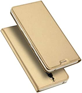 DUX DUCIS Skin Pro Series for Huawei Mate 9 Pro/Porsche Design Business Leather Phone Case - Gold