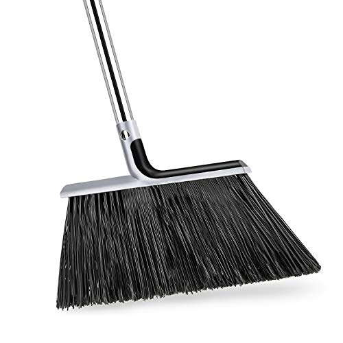 KeFanta Outdoor/Indoor Broom for Sweeping with 58 inch Long Handle, Angle Brooms Heavy-Duty Perfect for Home Garage Kitchen Office Courtyard Lobby Mall Market
