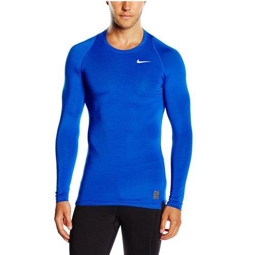 Nike Herren Pro Cool Kompressionsshirt Langarm, blau, S, 703088-480