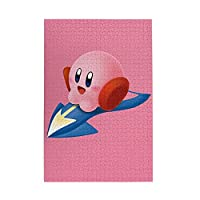 星のカービィ ジグソーパズル1000ピース-大人の子供パズルおもちゃゲームクラシックパズル教育ギフト家の装飾壁ア(75x50cm)パズル