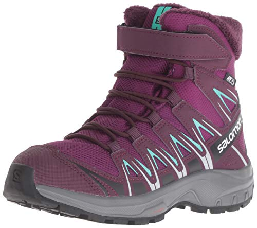 Salomon Kinder Winterschuhe, XA PRO 3D WINTER TS CSWP J, Farbe: Violett/Blau (Dark Purple/Potent Purple/Atlantis), Größe: 35