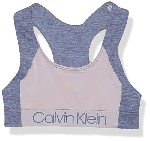 Calvin Klein Damen Seamless Wirefree Comfort Bralette Bra Unterhemd, Pink mit Ck Logo, Klein