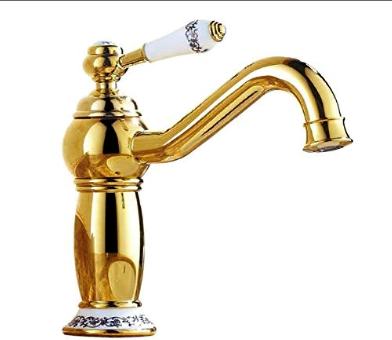 Küche Bad Wasserhahnwasserhahn Bad Waschbecken Fauceteuropean Style Gold Und Blau Und Wei Porzellan,