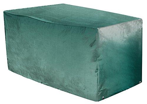 Royal Gardineer Regenschutz: Gewebe-Abdeckplane für Gartenbänke, 160 x 80 x 78 cm, 110 g/m² (Abdeckplane Bank)