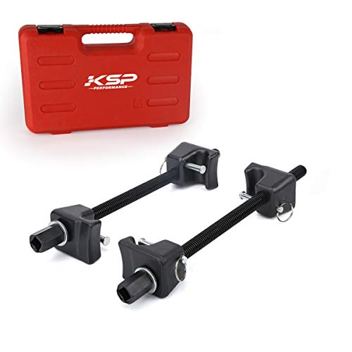 """KSP Universal Coil Spring Compressor Tool,Macpherson strut spring hook Compressor Coil Spring Clamps with 5/8""""-11 Thread Black (2PCS), 13/16in Socket 1/2in Drive Wrench"""